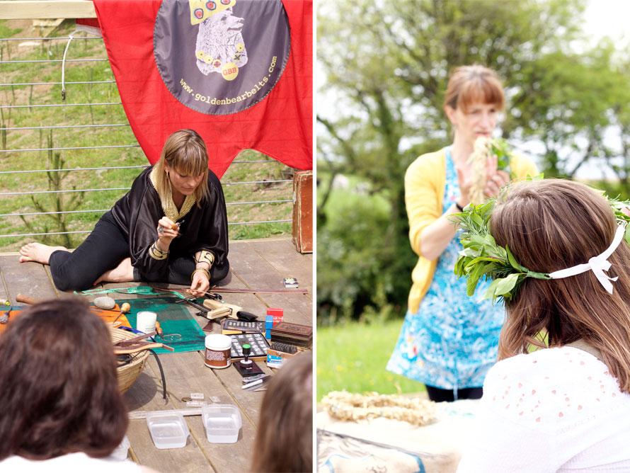 craft workshops Sisterhood Camp 2015 North Devon