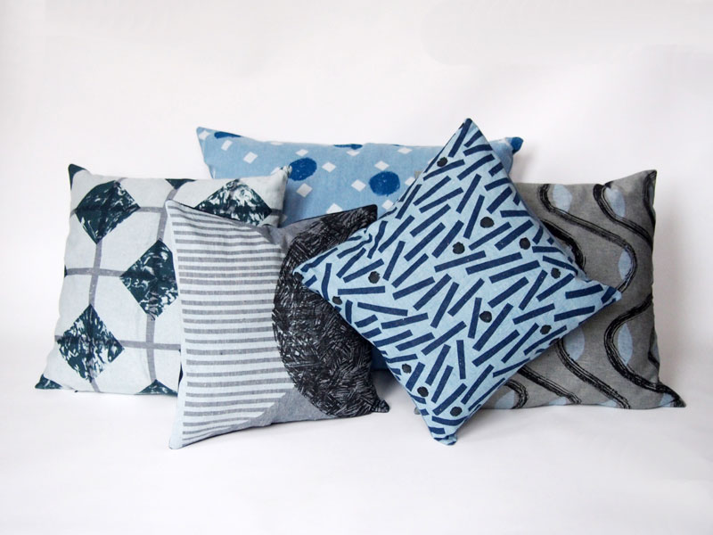 jo waterhouse limited edition denim cushion