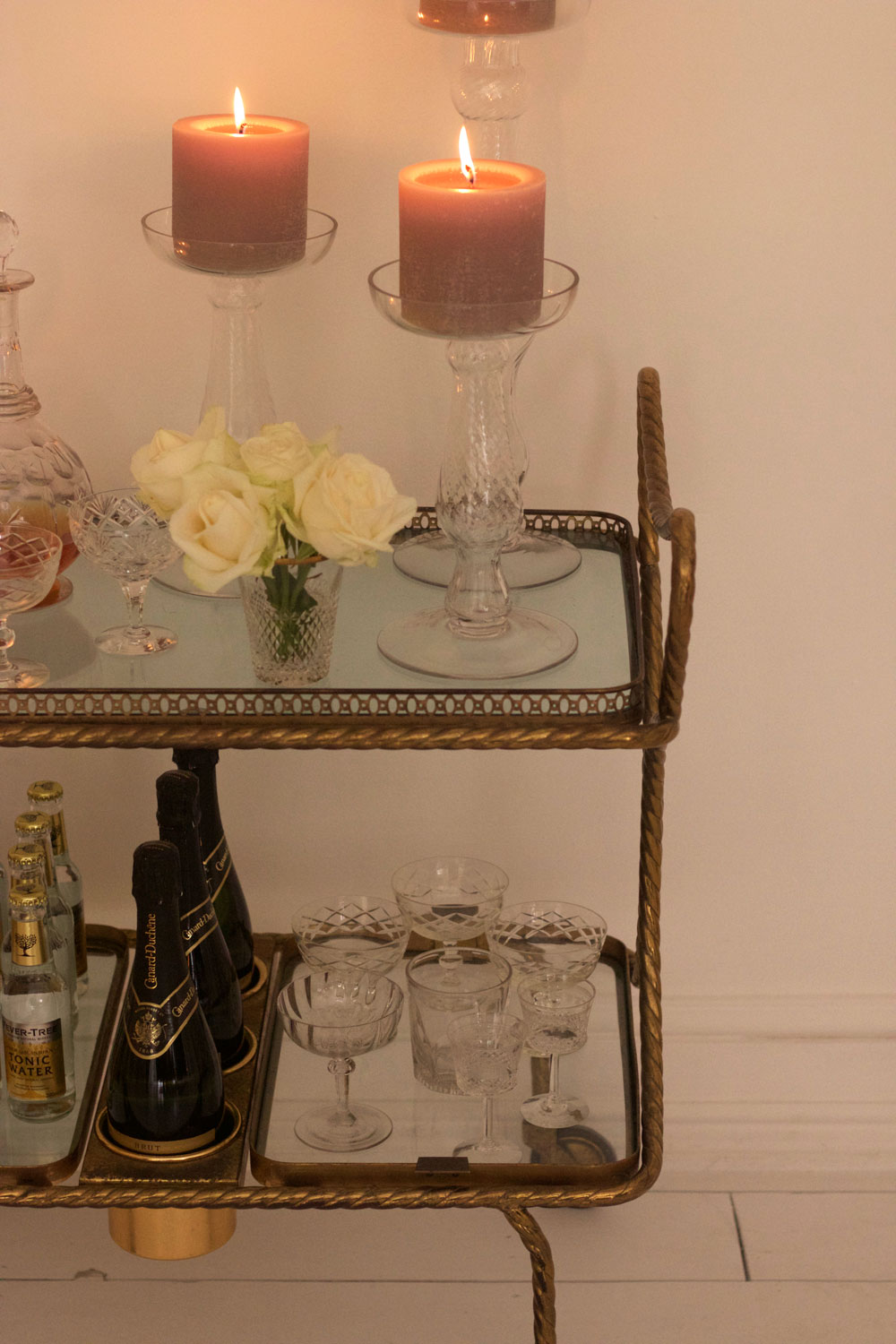 Beautiful bar cart