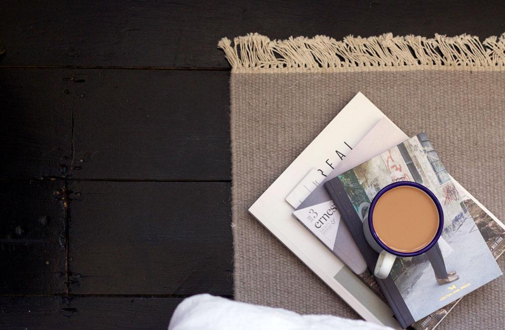 Grey woven rugs