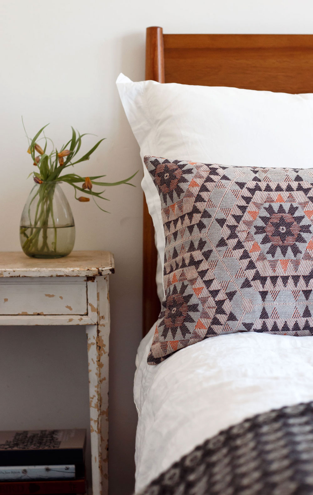 Aztec patterned cushion from the future kept