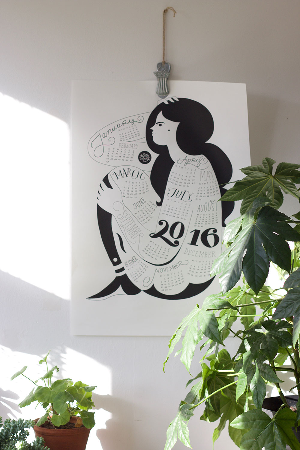 Karolin Schnoor screen print 2016 calendar