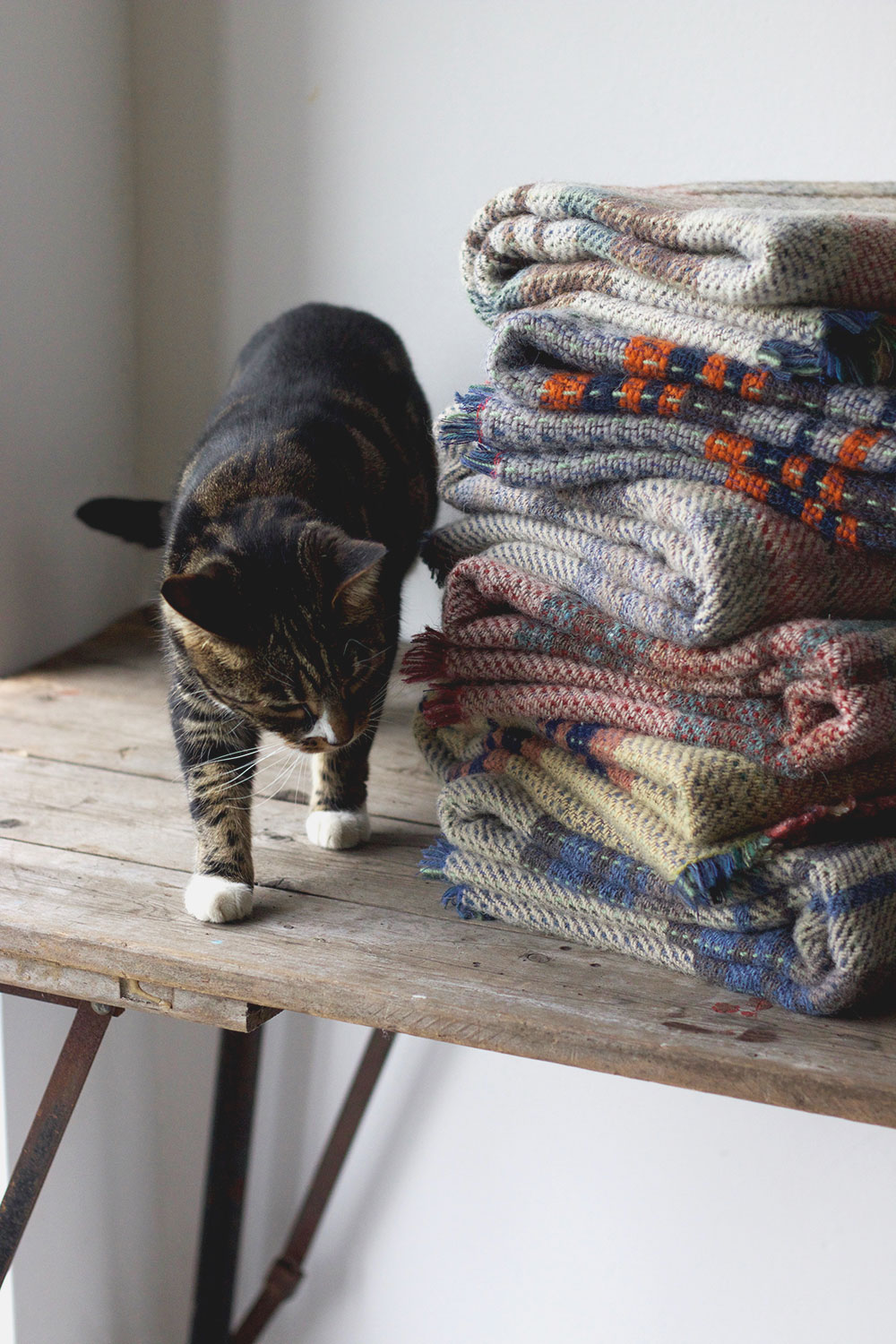 Recycled Woven Blankets made in Wales