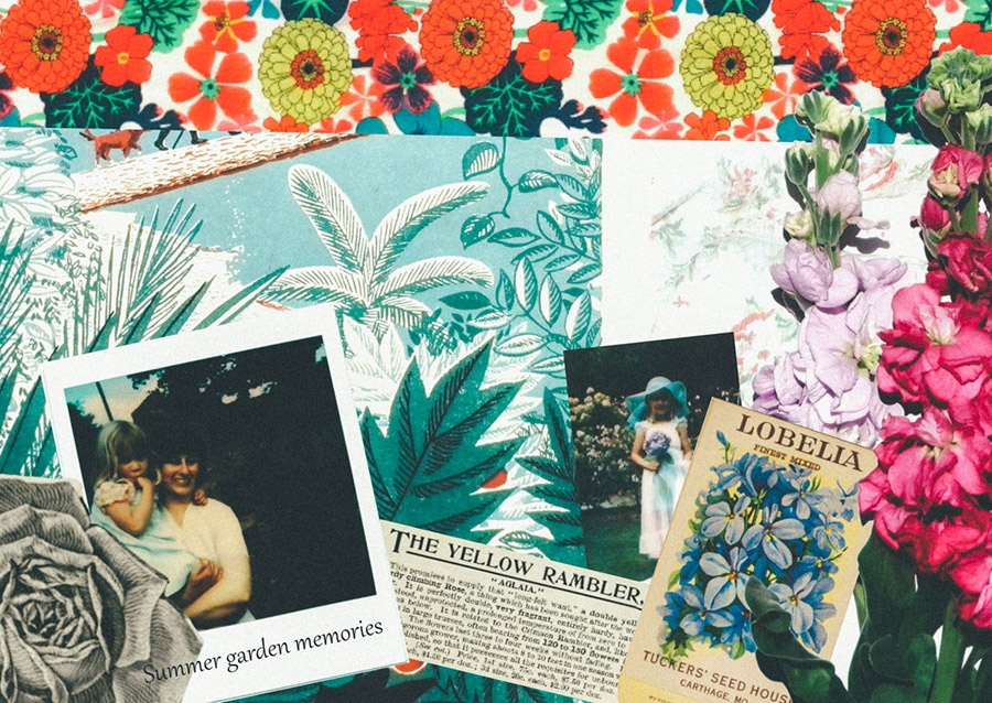 HP Sprout collaged garden journal cover