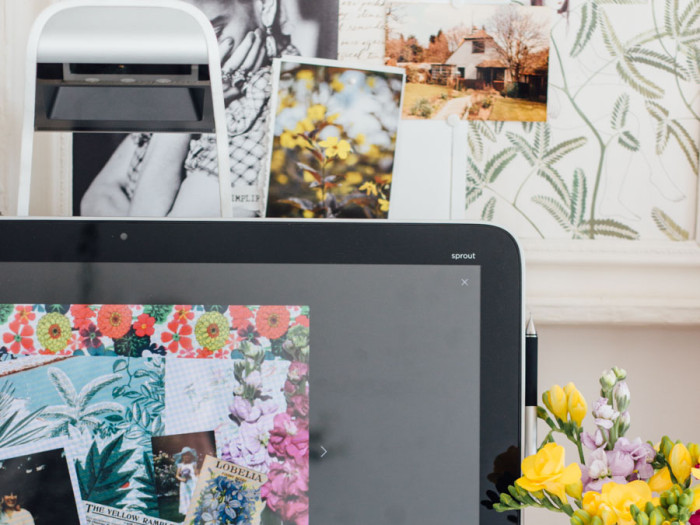 HP Sprout garden collage Journal