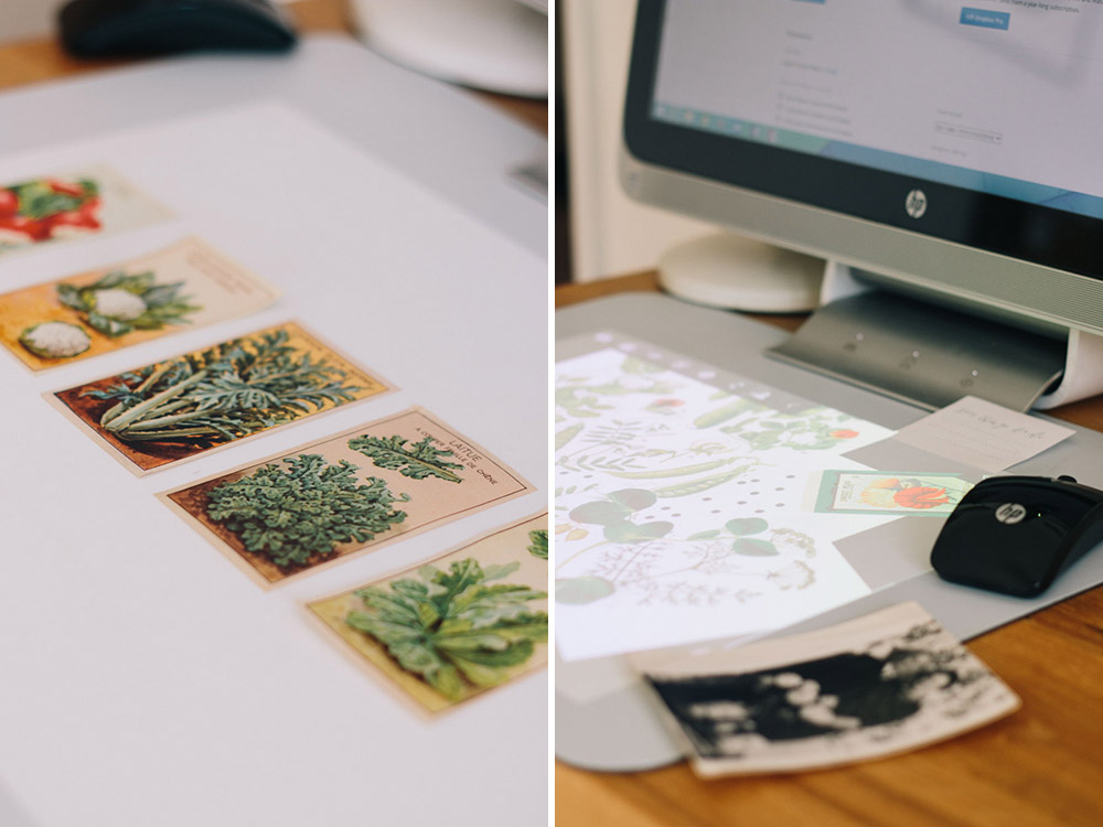 collaging with the Sprout by HP