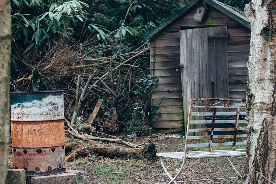 Old shed and garden makeover