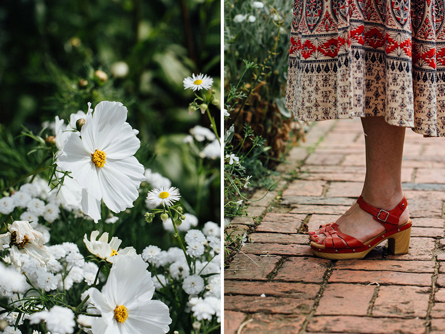 Red sandals for summer