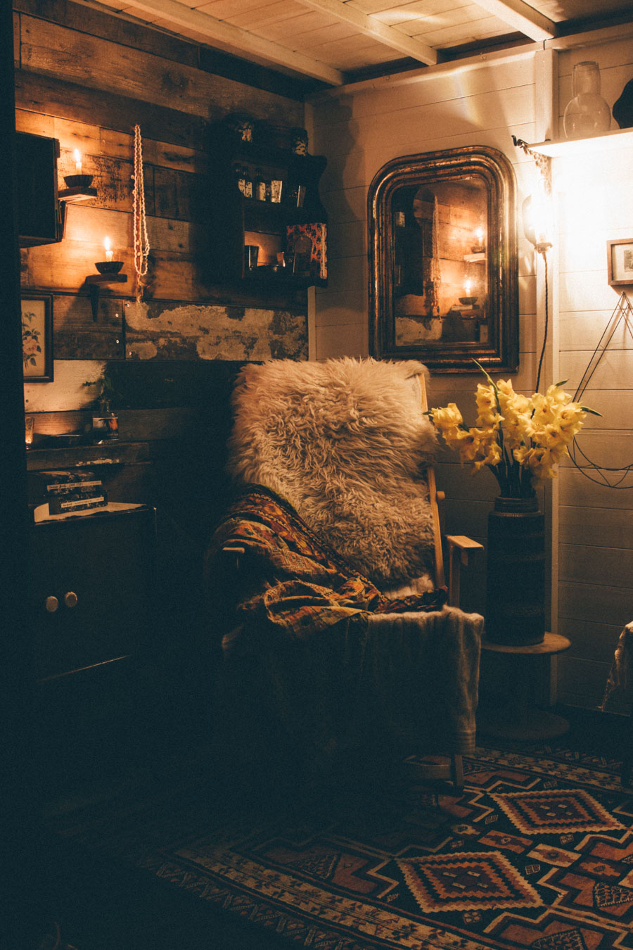 Folk style interiors