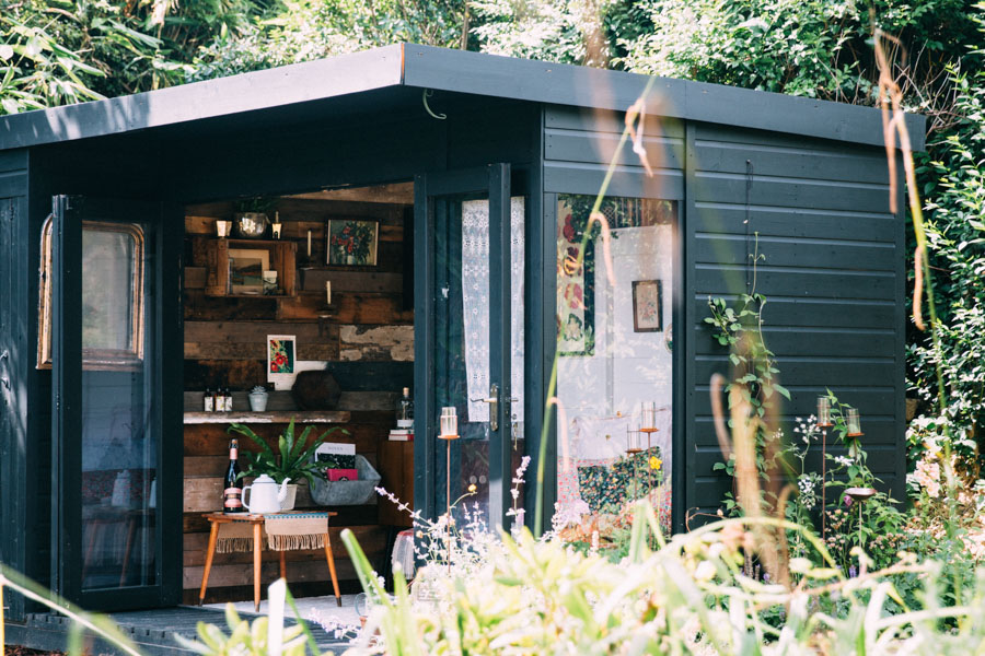 Rustic chic shed