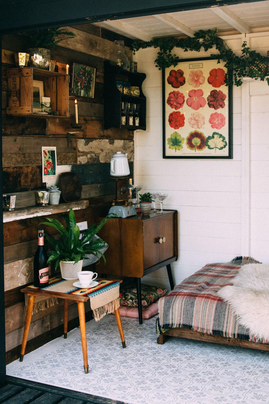 Creating a rustic garden retreat