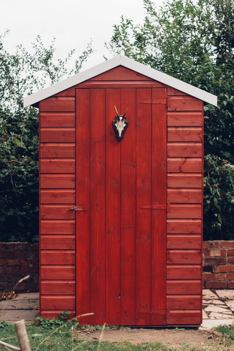 Swedish style garden shed makeover with B and Q