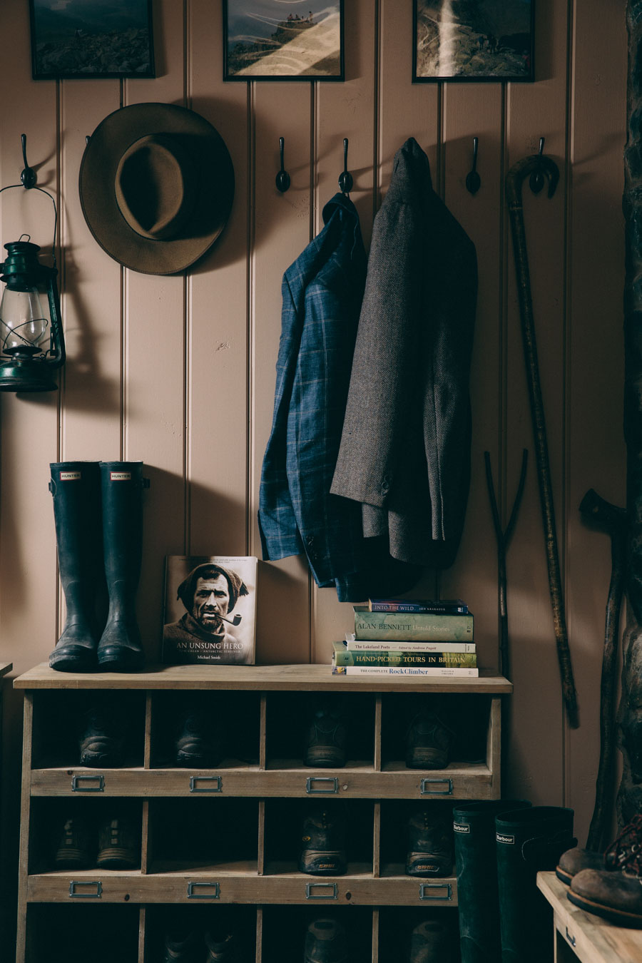 Chic boot room styling