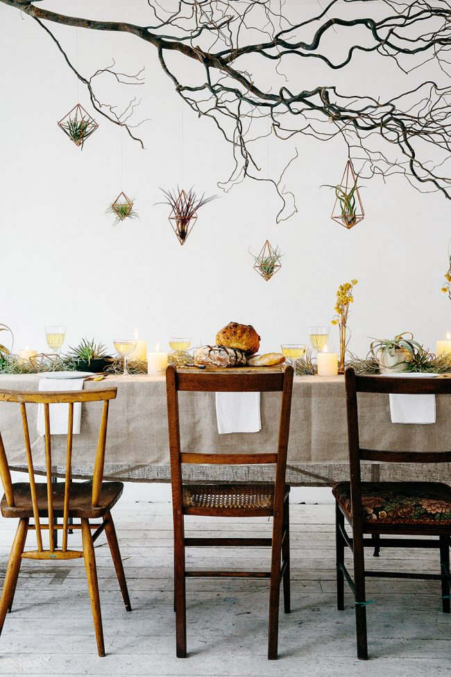 House of plants - botanical dinner setting