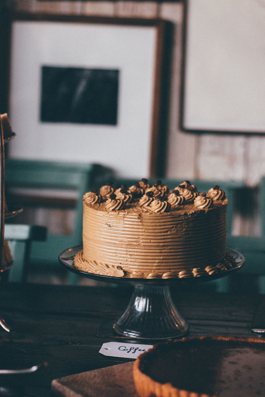 Coffee and Walnut cake - Afternoon Tea at Soho Farmhouse