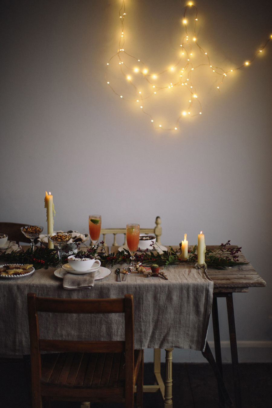 Rustic Christmas styling