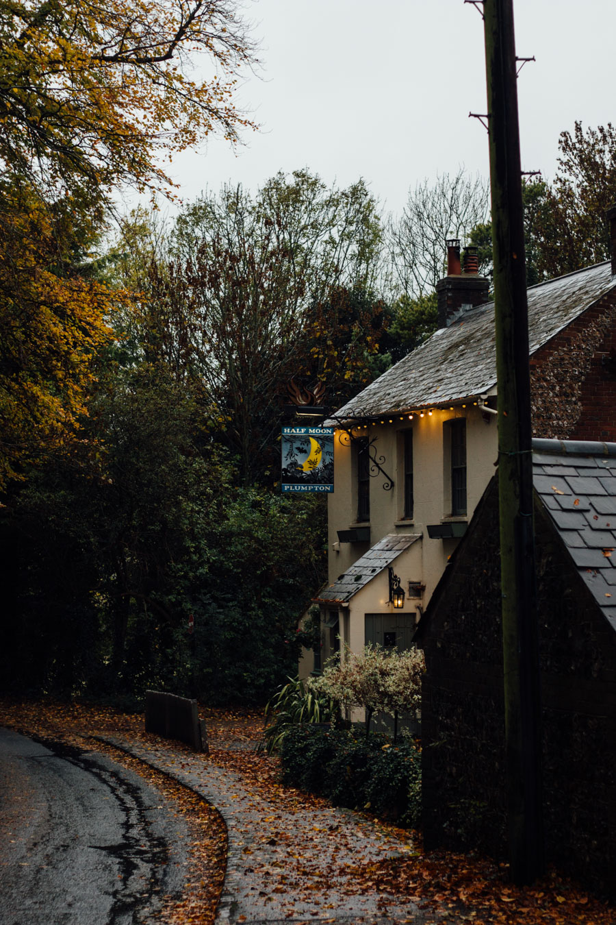 country pub in the autumn