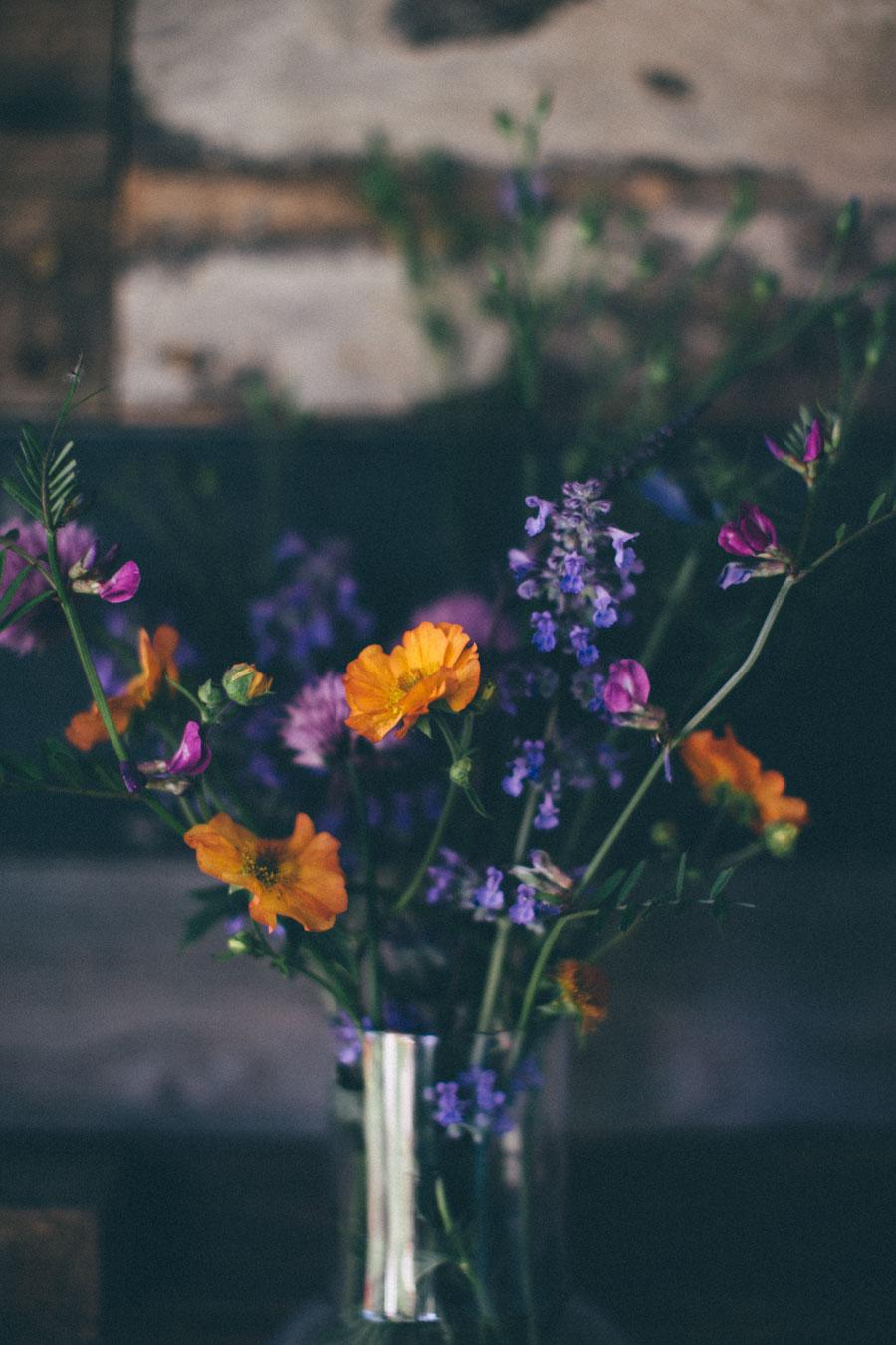 Hand picked garden blooms