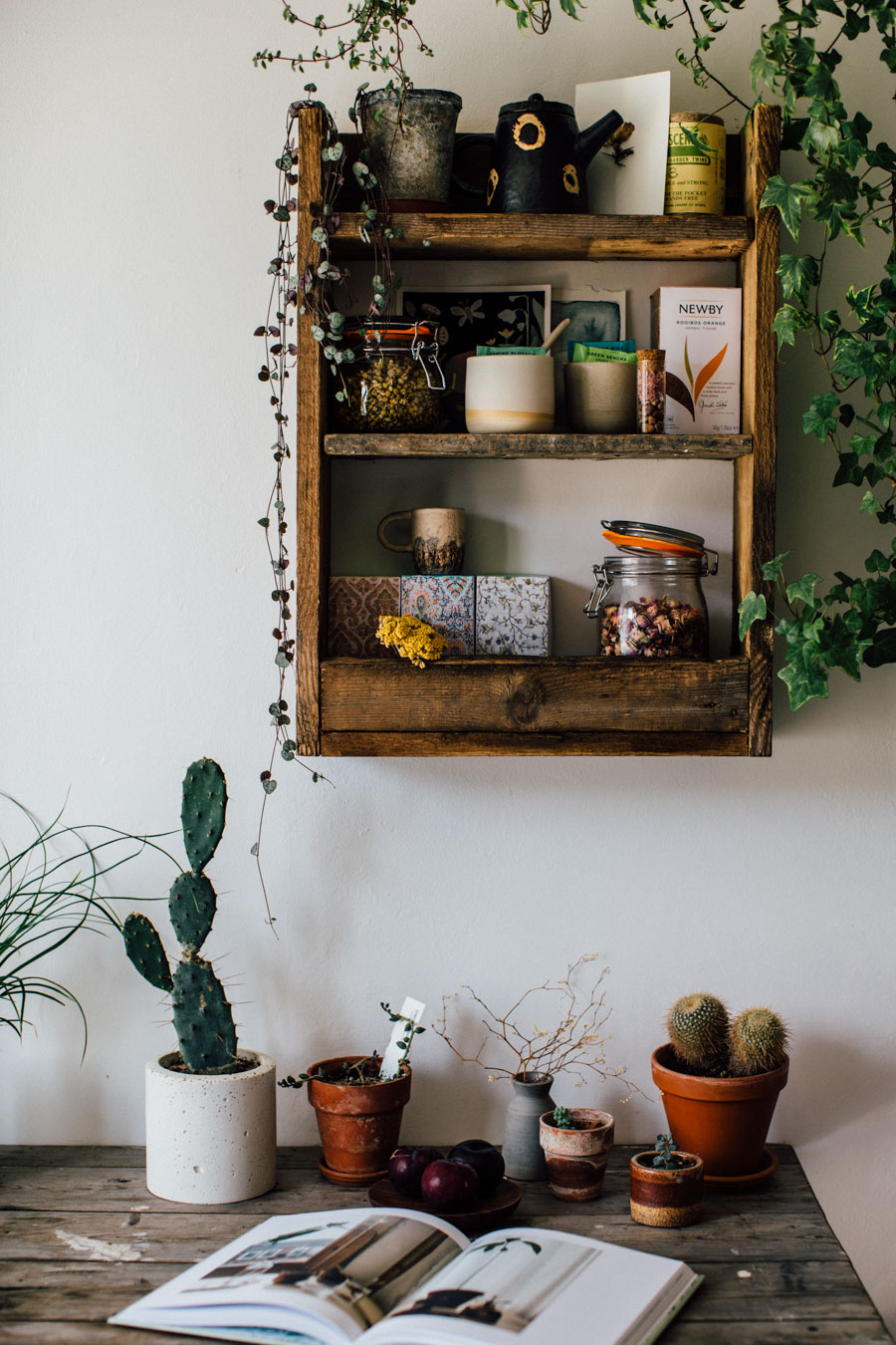 Rustic kitchen shelf