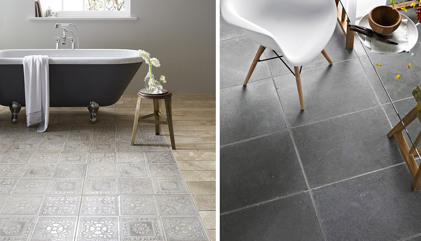Bathroom floor inspiration Topps Tiles