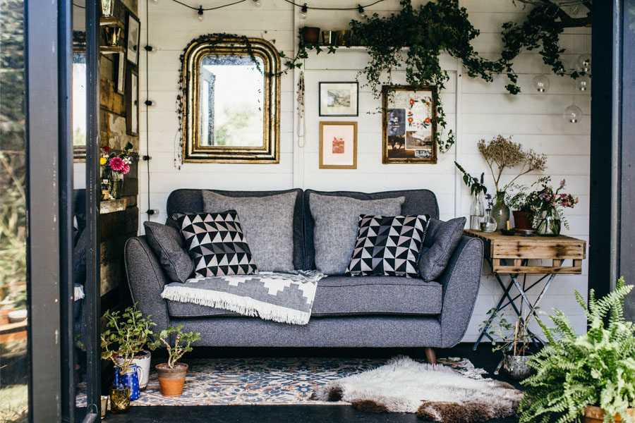 French Connection - Zinc Sofa by DFS