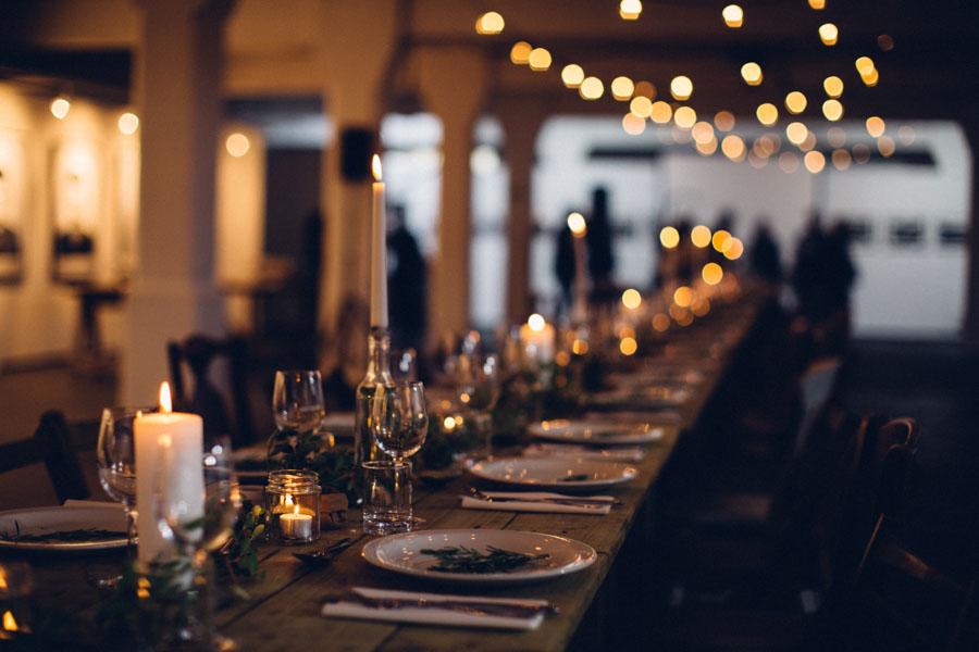 rustic dinner table setting