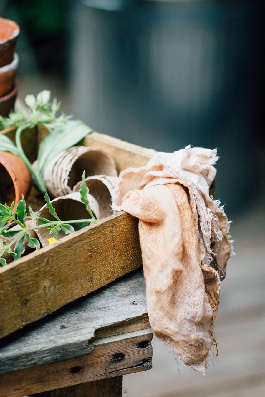 Garden natural dye studio
