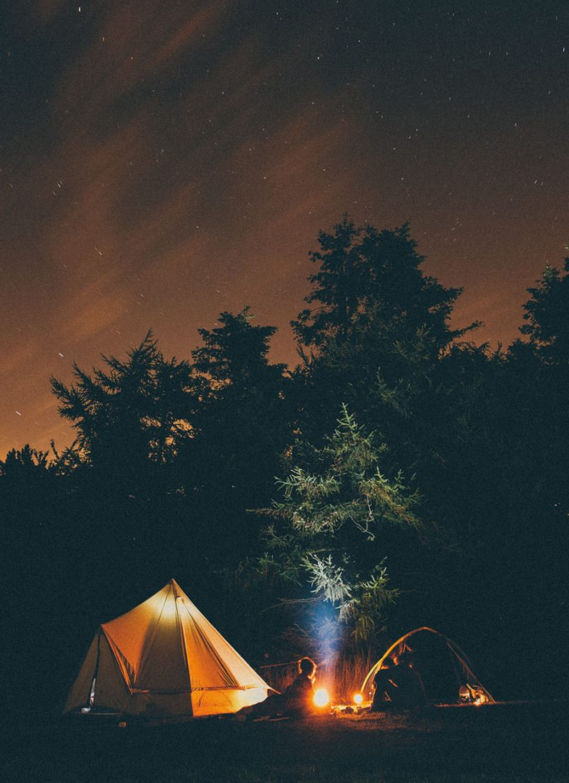 Starry night camping under the stars