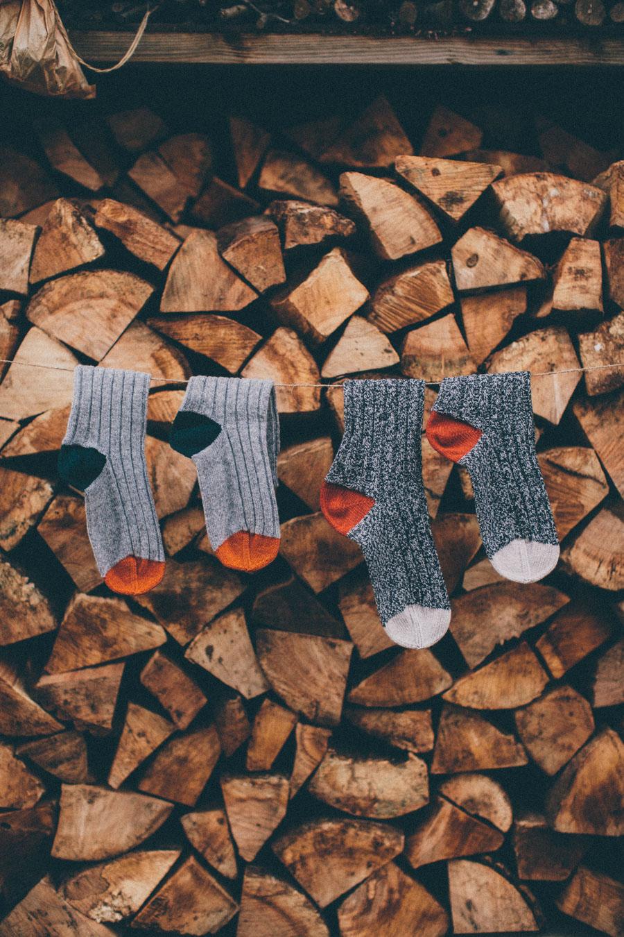 Chunky woollen socks