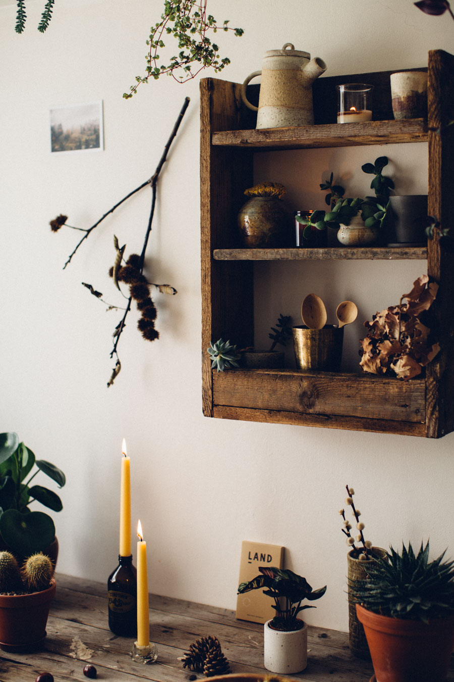 November shelf styling