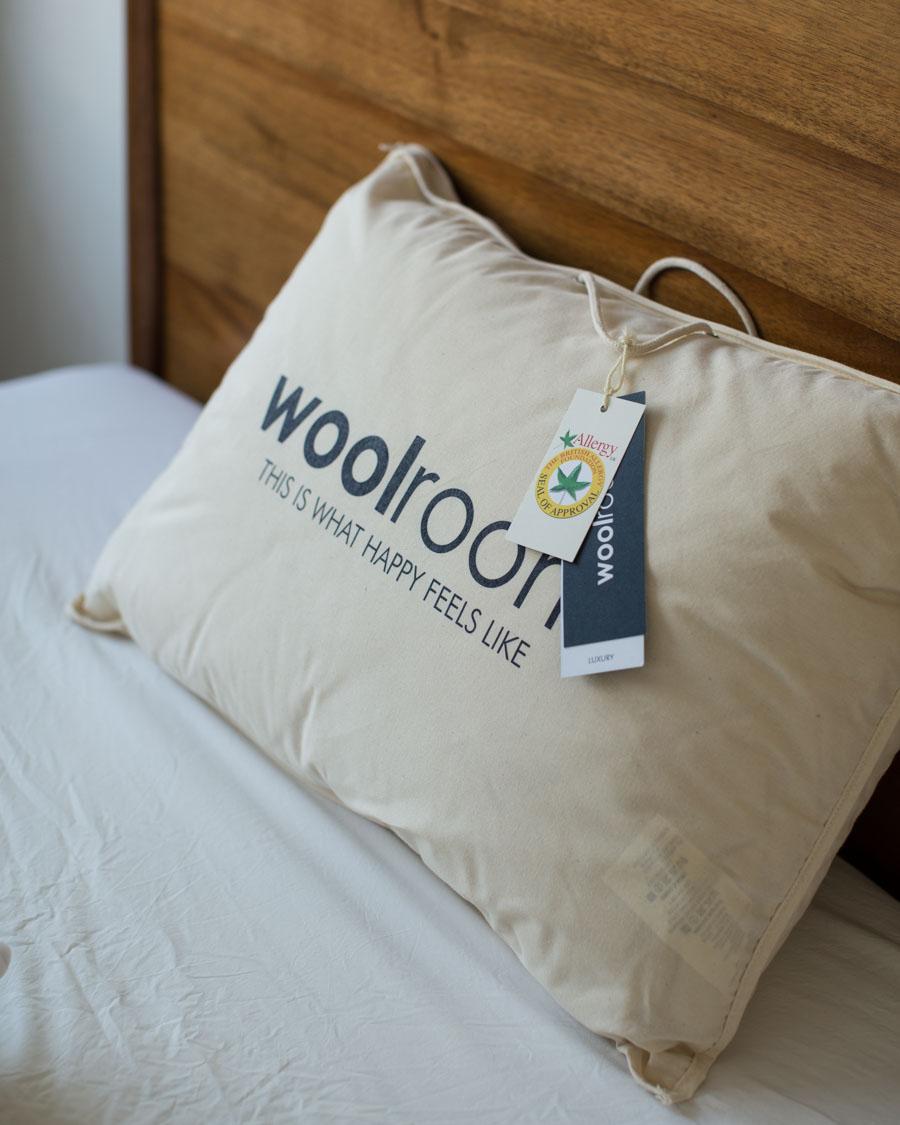 Hypoallergenic organic wool pillows