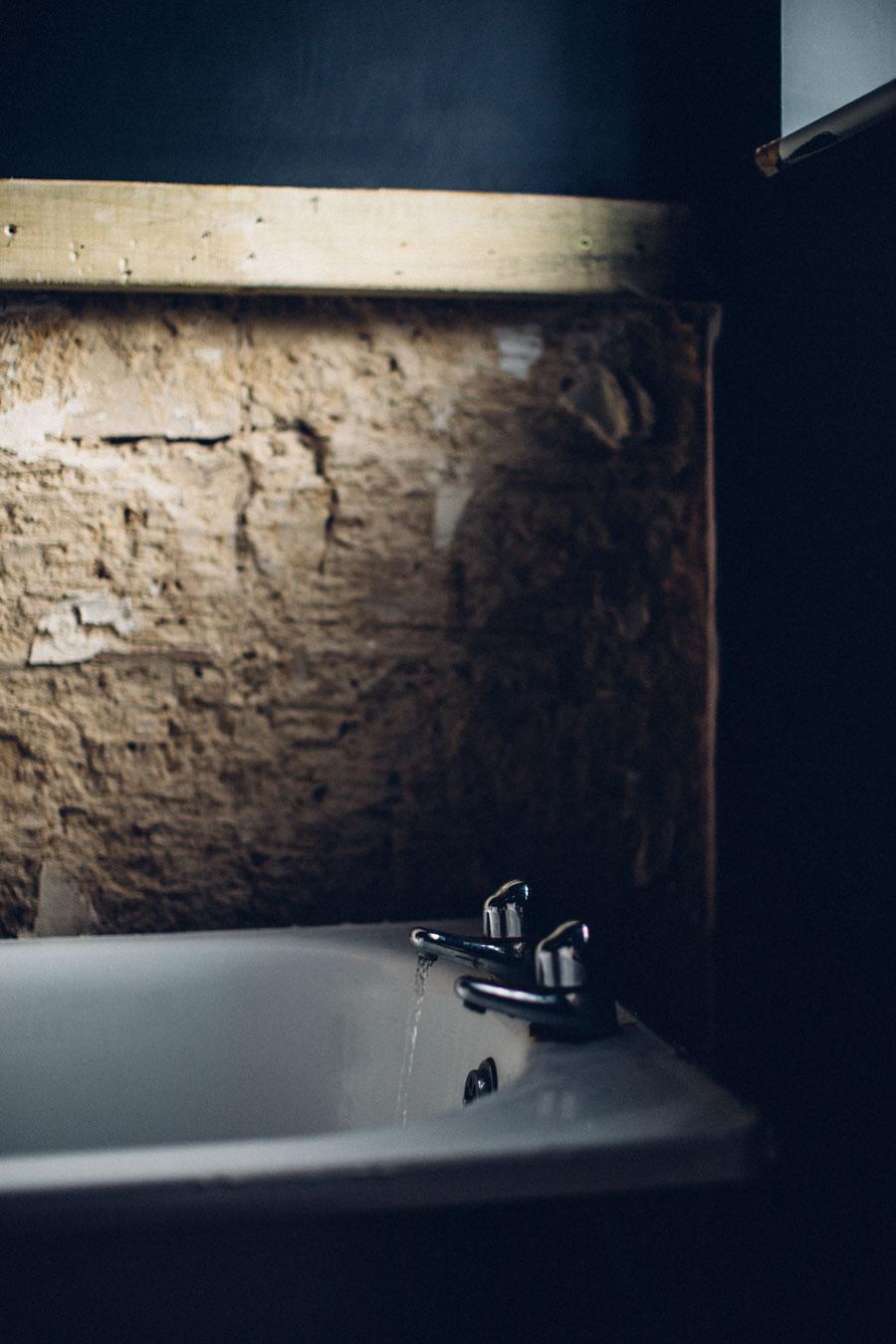 Moody derelict bathroom