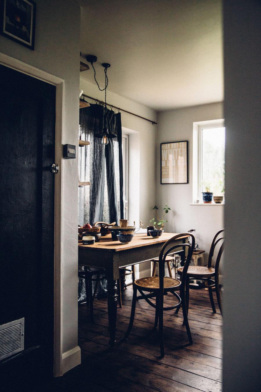 Moody kitchen hues
