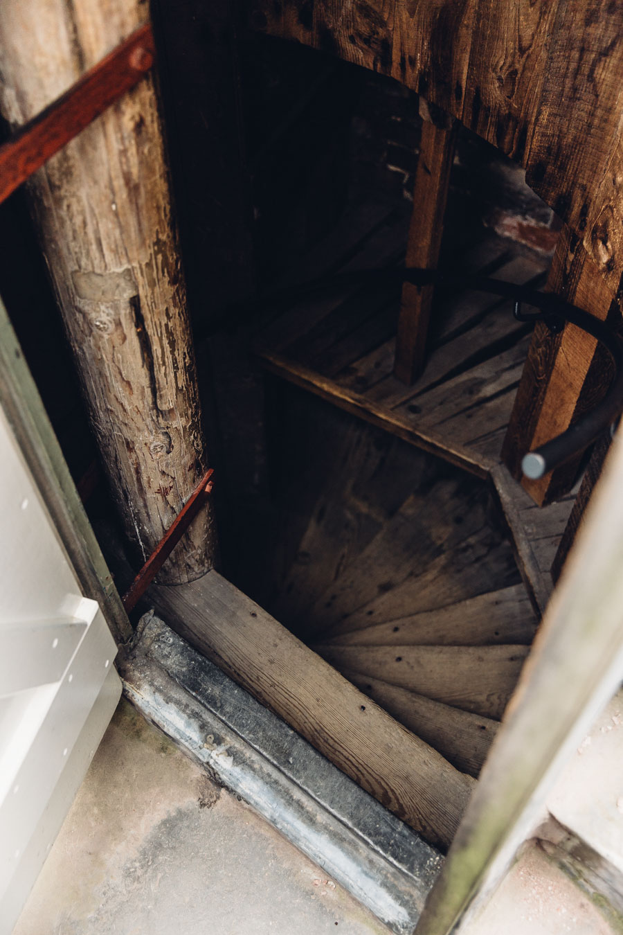 Luttrell's Tower - stairs to the roof