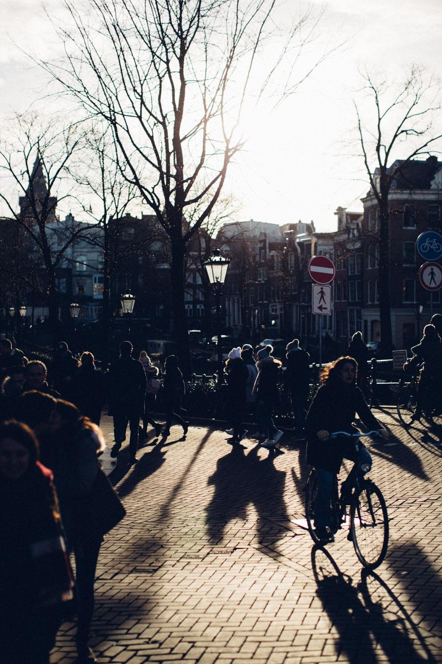 Amsterdam winter street photography