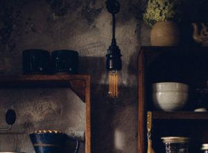 Vintage style plug in pendant light