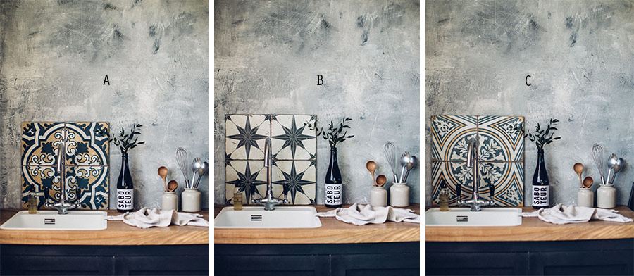Vintage style wall tiles