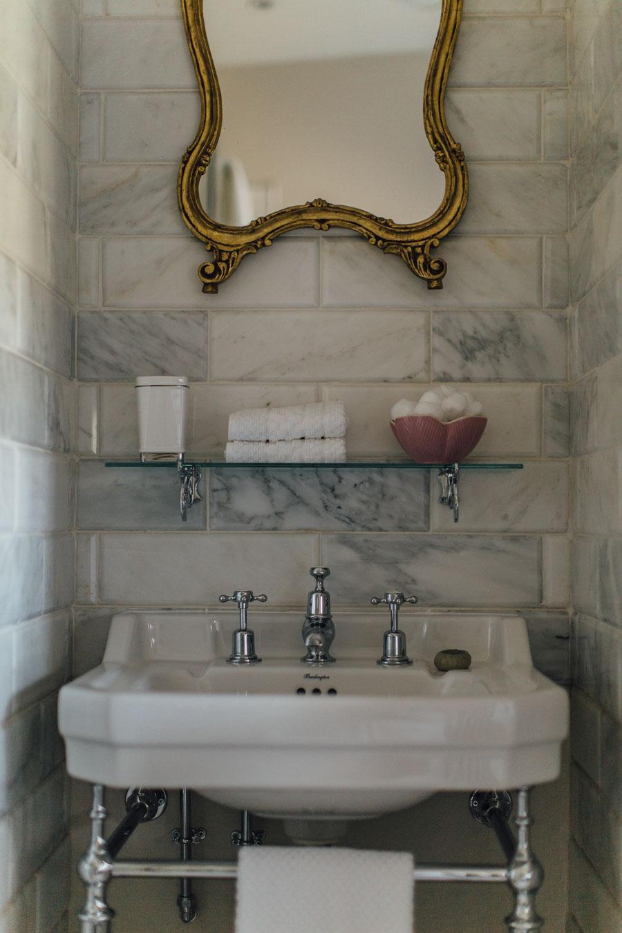 Vintage bathroom style at Battel Hall
