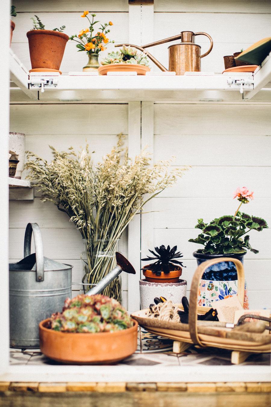 Vintage garden styling