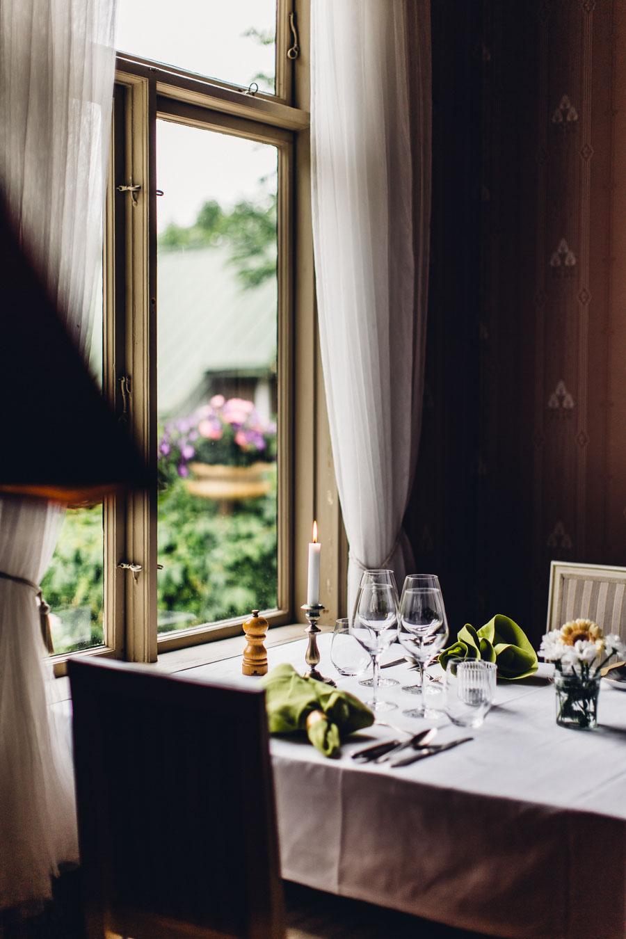 Dining room at Villa Sjötorp Hotel