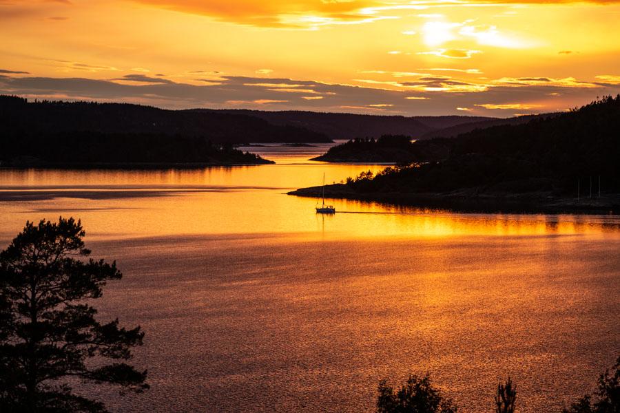 Sunset at Villa Sjötorp