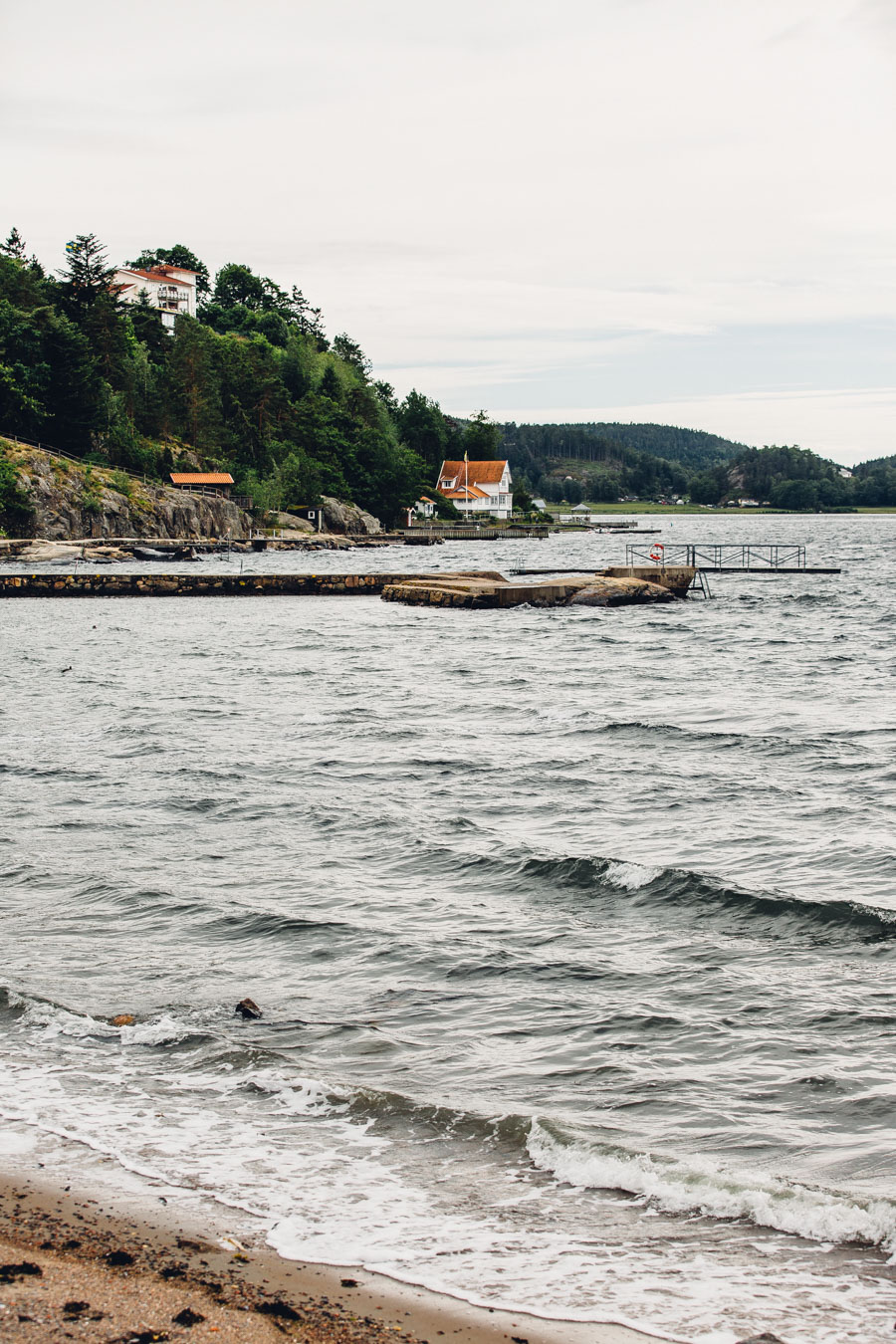 The beach at Ljungskile, Sweden