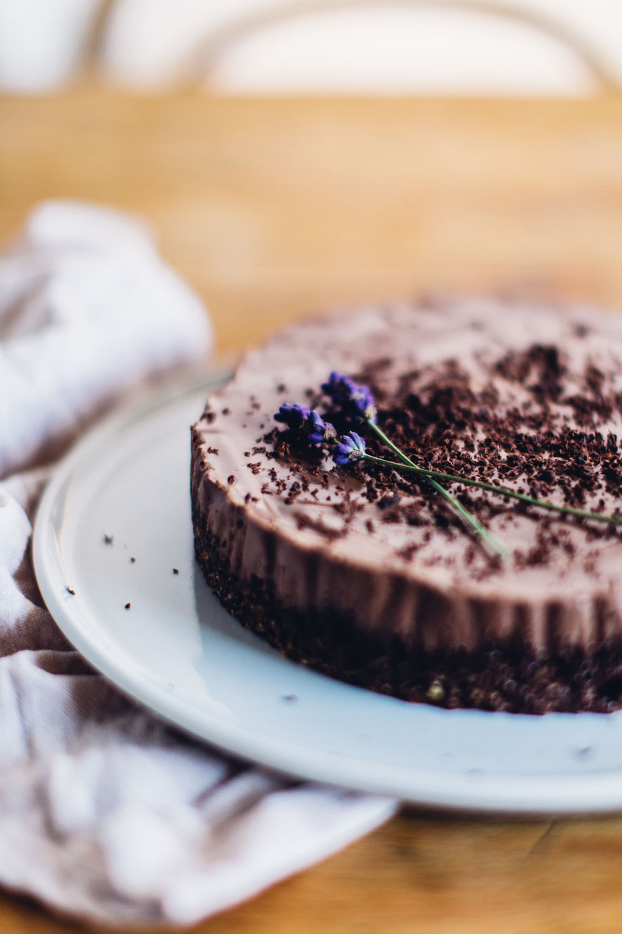 Earl grey and lavender vegan cheesecake