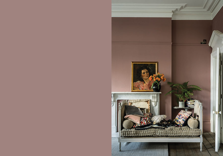 Farrow and Ball Paint Sulking Room Pink