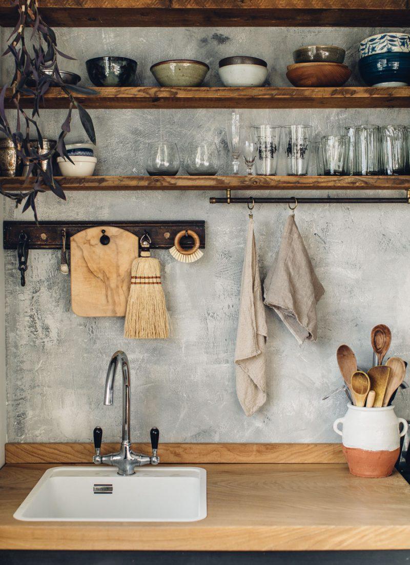 Hand built rustic kitchen
