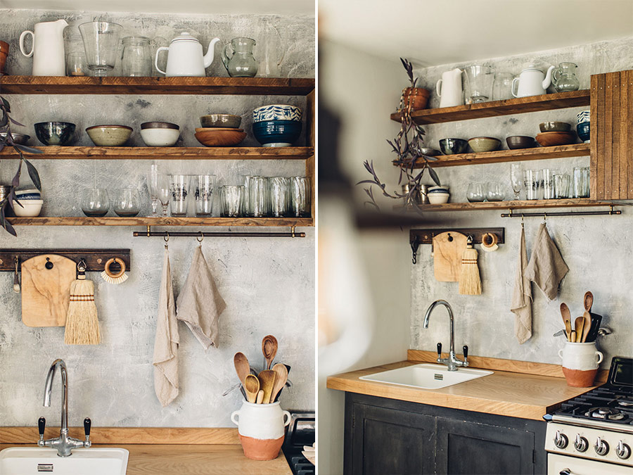 Hand built rustic kitchen