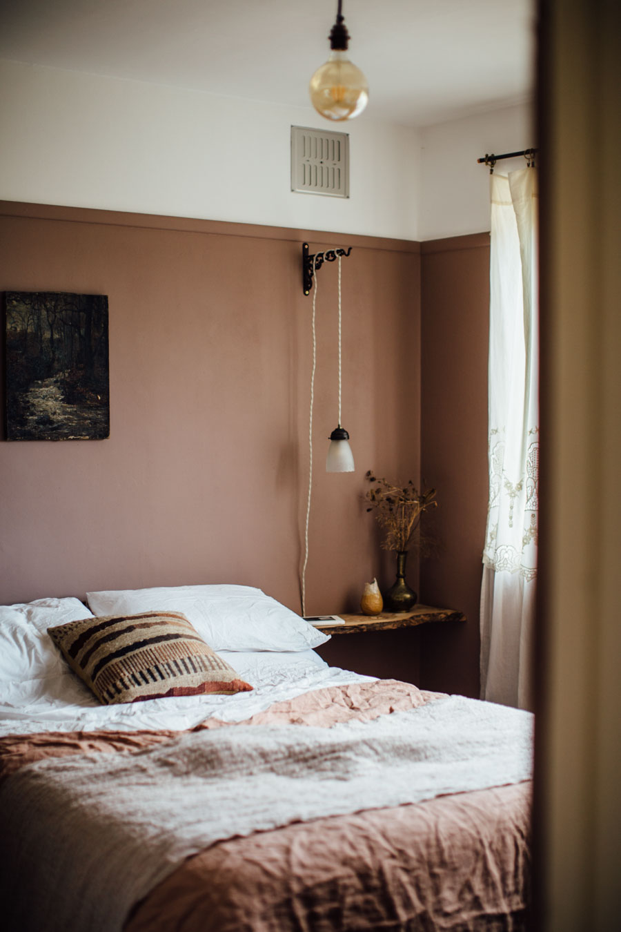 Warming paint tones for a bedroom