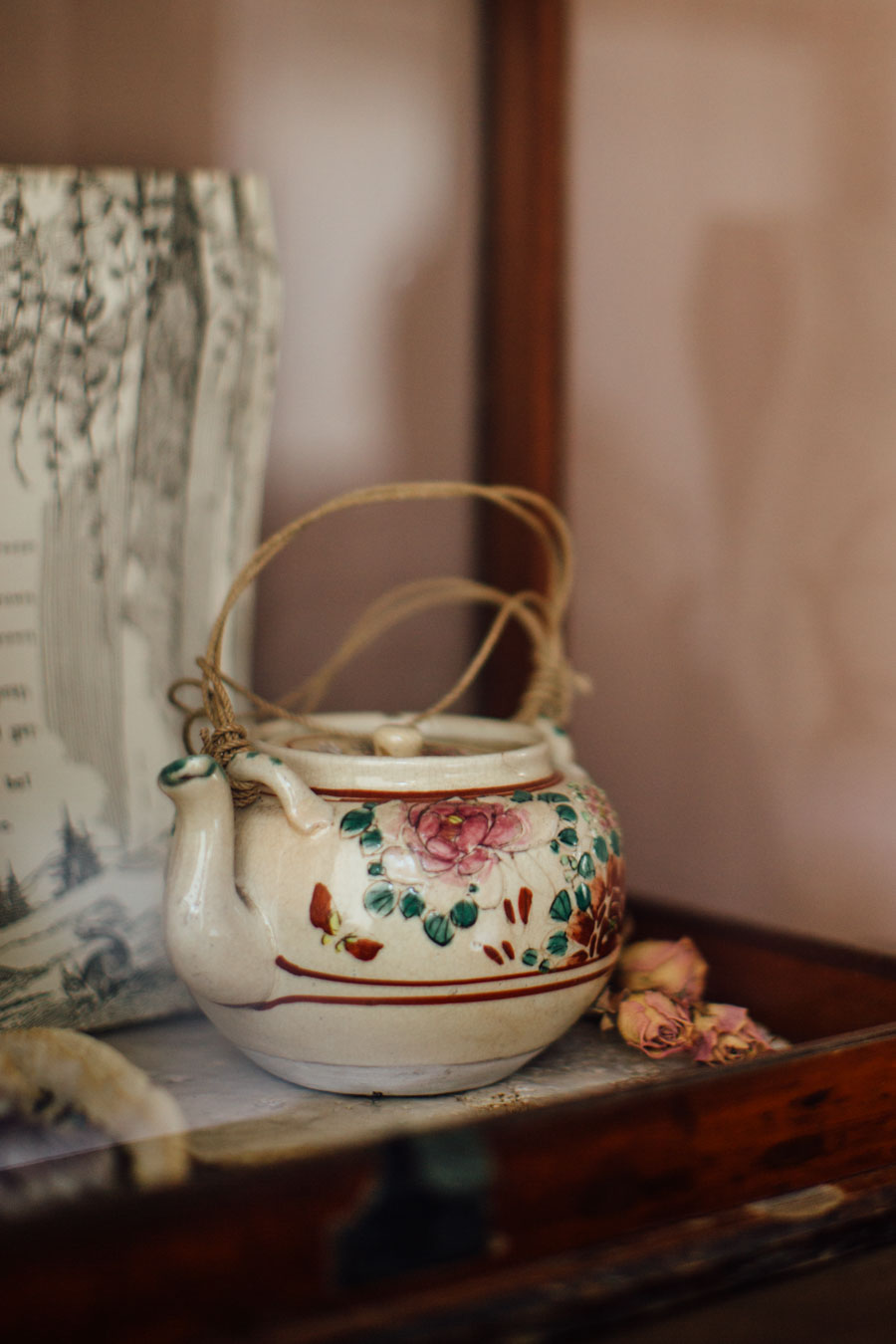 Styling with antique ceramics
